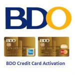 BDO Credit Card Activation, BDO Card Activation