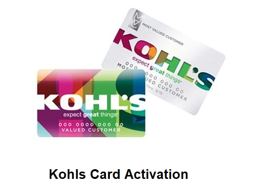 Kohls Card Activation